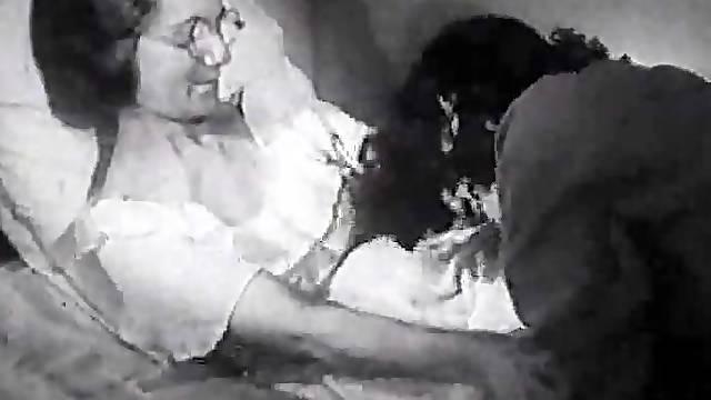 Horny Lesbian Babe Gets a Vintage Sybian From Santa - Retro Porn Scene