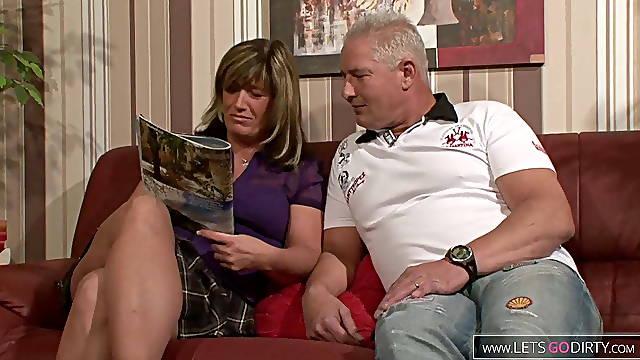 German mature couple fuck so hot
