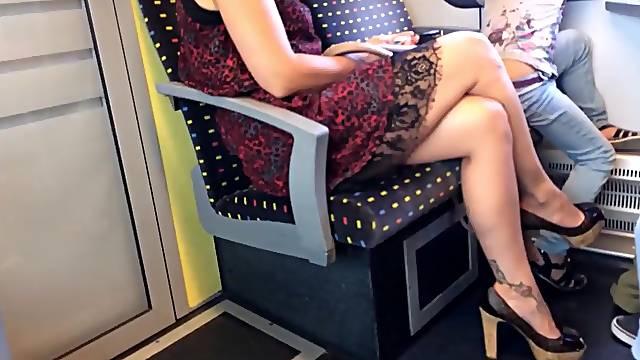 Hidden camera on the train