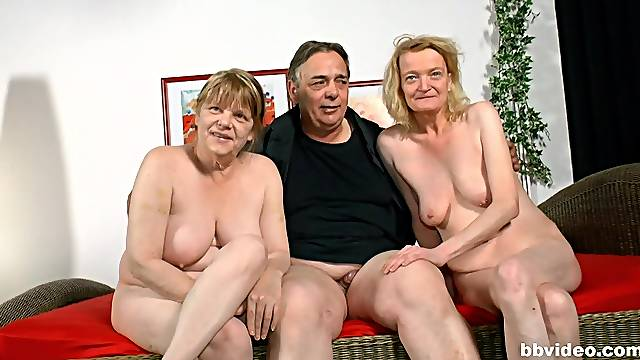 Kinky threesomes with horny German mature housewives - comp