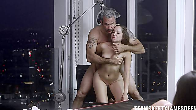 Passionate late night fucking with natural tits Remy LaCroix