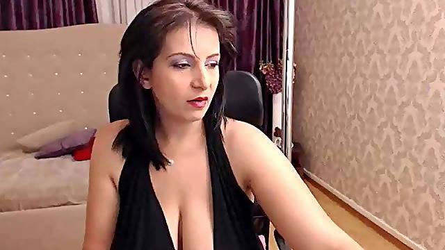 Smoking mature with big nice tits