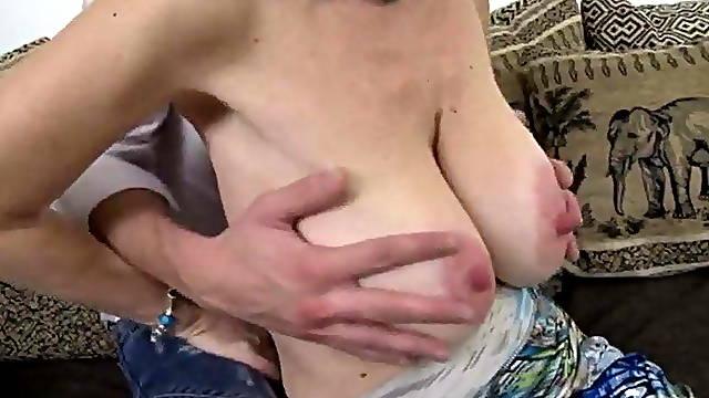 Mature pornstar with big saggy tits