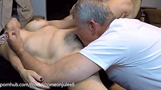 Man licking fine furry pussy