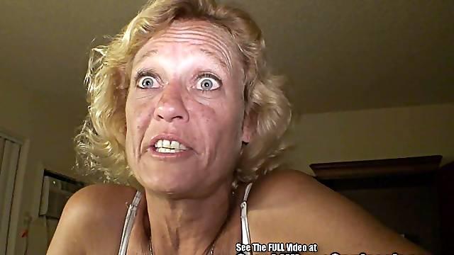 Tough Blonde Bitch Hooker Sucks On My Dick Nicely