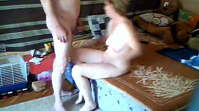 Blonde mature don't know about hidden cam