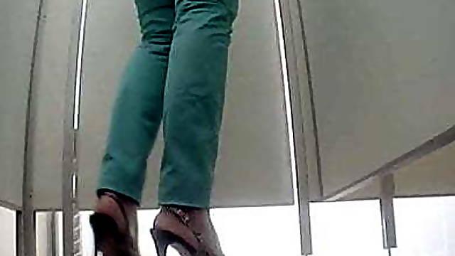 Hidden cam in the toilet