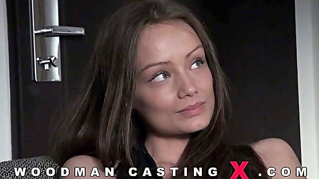 Hungarian beauty threesome fucking casting