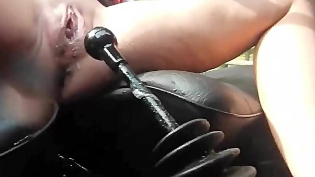 Fuck with gear shift lever until orgasm