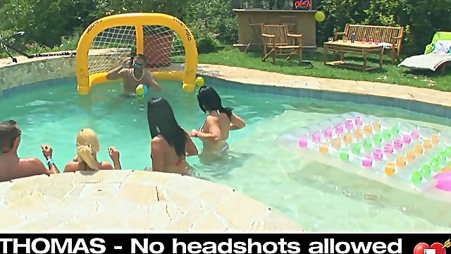 Pool orgy party