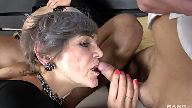 Shaved pussy Katsiaryna and Ivana get fucked by massive dicks