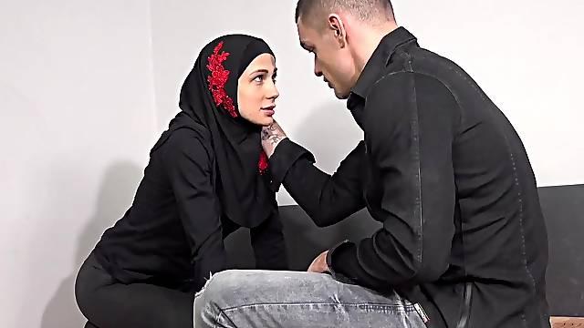 He caught her watching arab porn