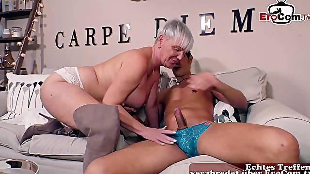 German mature granny with big boobs fuck