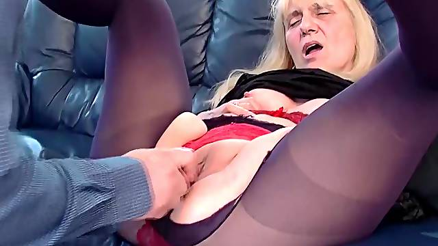 Ugly saggy tit 85 years old granny gets first time rough and deep doggystyle anal fucked