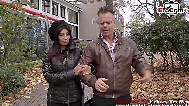 Turkish milf pick up from german guy