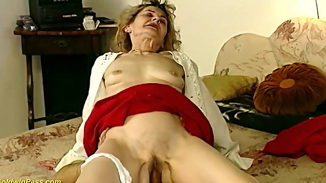 81 years old german granny gets rough and deep fucked by her horny boyfriend