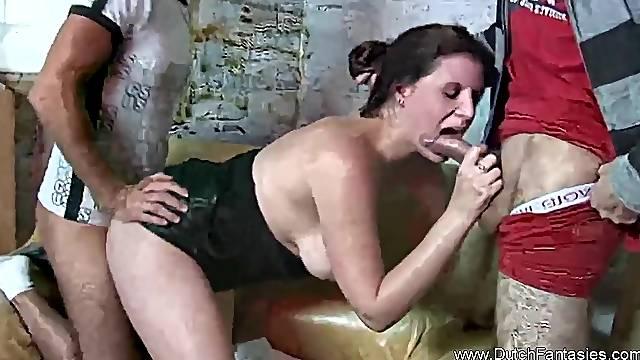 Crazy Cum Covered Dutch Fantasy MILF Fun Sex Moment