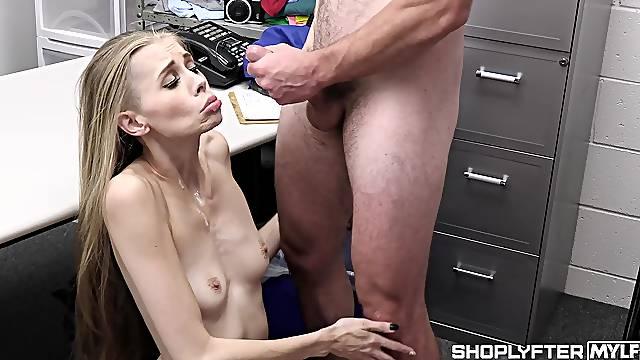 Skinny slut Kyaa Chimera gives head and gets fucked balls deep