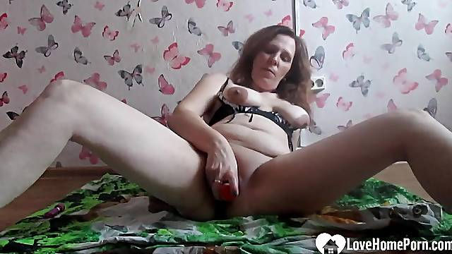 After I was done teaching online, I pleasured both of my holes on camera