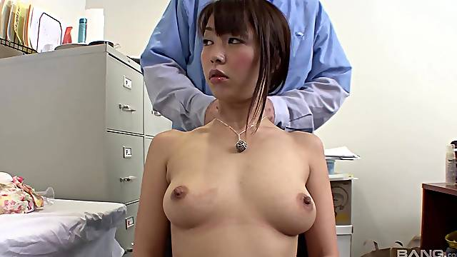 Balls deep fucking with natural boobs Japanese pornstar Marica Hase