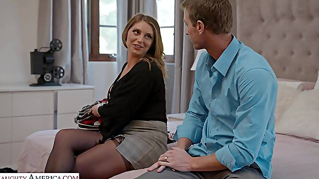 Horny cougar Kayley Gunner moans during passionate fucking
