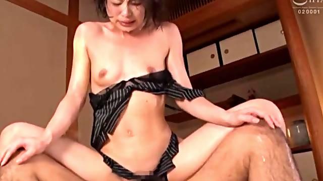 Small tits Japanese girl Oto Sakino moans while getting fucked hard