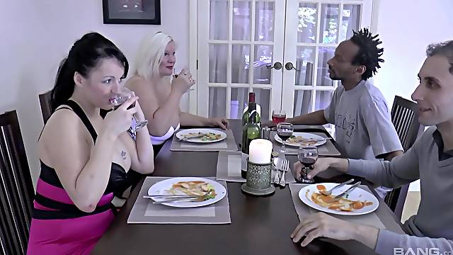Double cum in mouth ending for dirty MILFs Lacey Starr & Devon Breeze