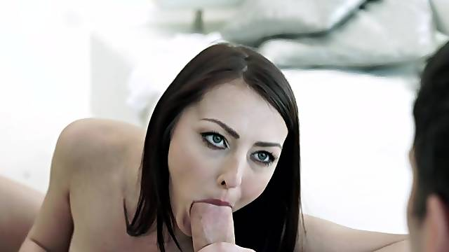 Teen Katy Rose drives the cock in both her love holes
