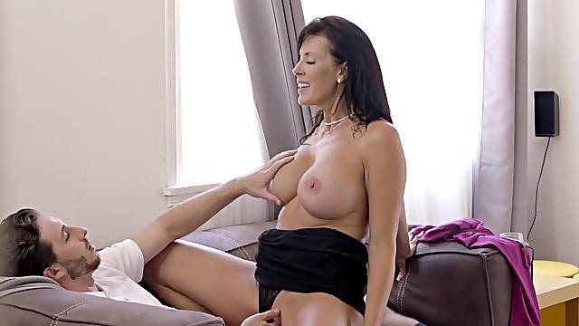 Sexy mature sure loves the step son's cock