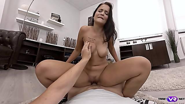 Erotic cam scenes of pure cock riding in sensual POV