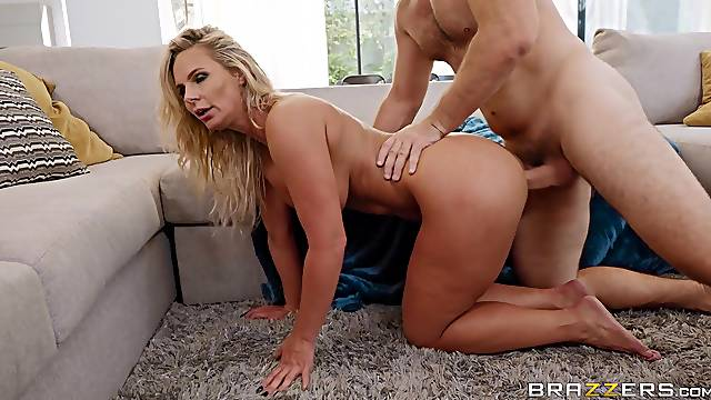 Impressive home porn with a top wife who's ass deserves the big dick