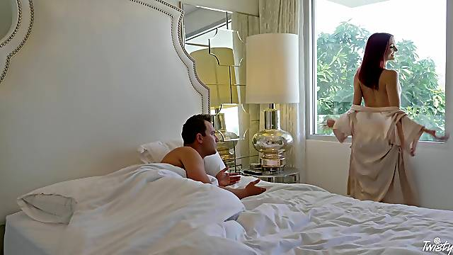 Sensational morning lovemaking for elegant redhead Andi Rye