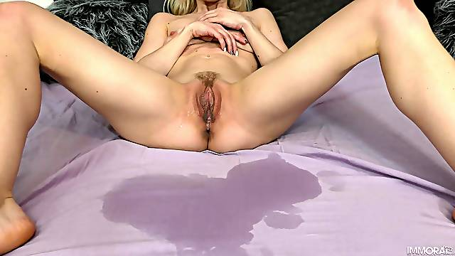 Doggy style perfection for the skinny blonde while filmed
