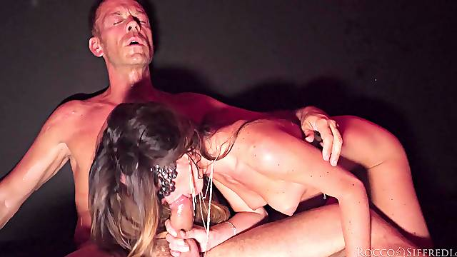 Sensual MILFs share the dick in a super intense anal play