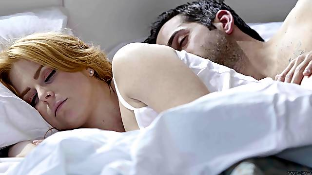 Redhead feels neighbor's dick fucking her better than hubby