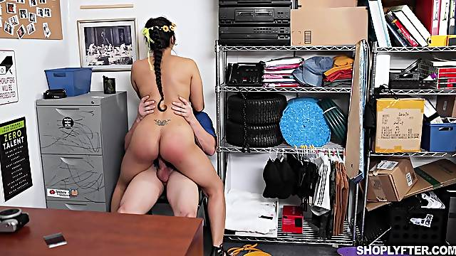 Insolent MILF bends ass at the office to fuck with her boss