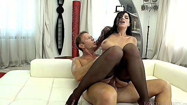Naughty chicks get intimate in hardcore with Rocco Siffredi