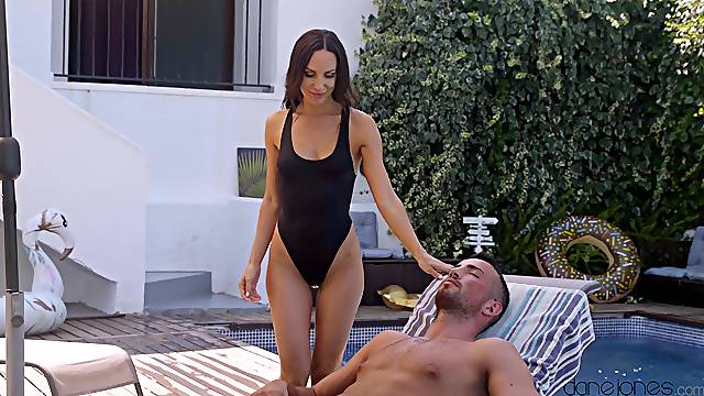 Lovely afternoon pounding by the pool for scrumptious Lilu Moon