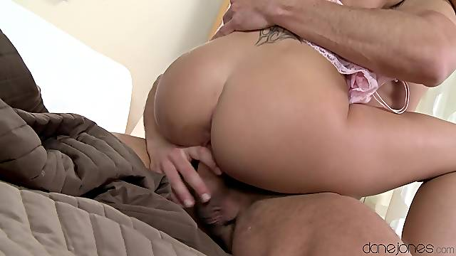 Insane doggy penetration makes the young hon to scream a lot