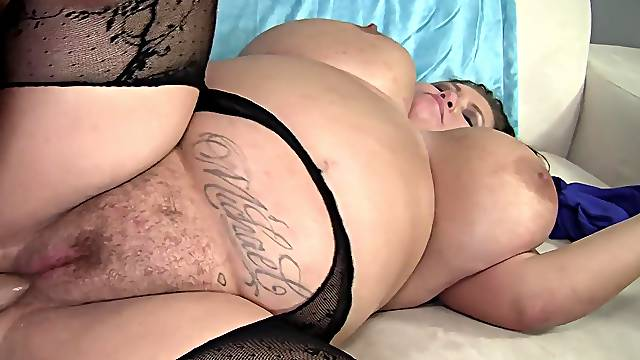 MILF with chubby forms, ass fucked then gagged