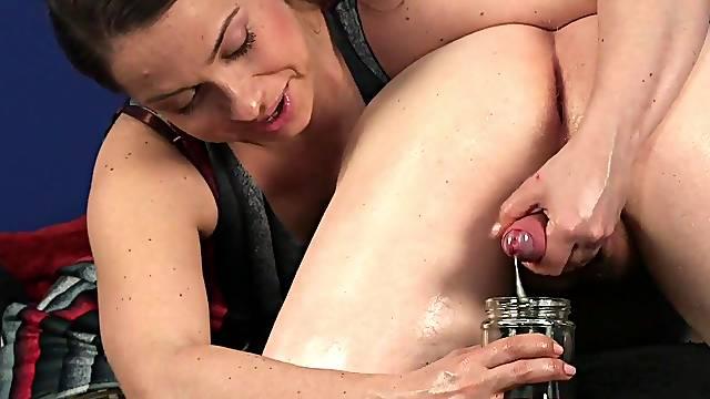 Hot Latina woman drinks sperm after crazy CFNM cam porn