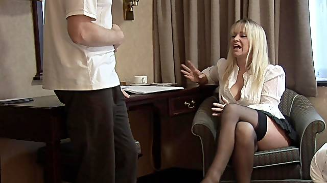 Clothed MILF gets the dick after a naughty teaser