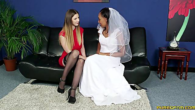 Bride to be shares a tasty dong with her future sister-in-law