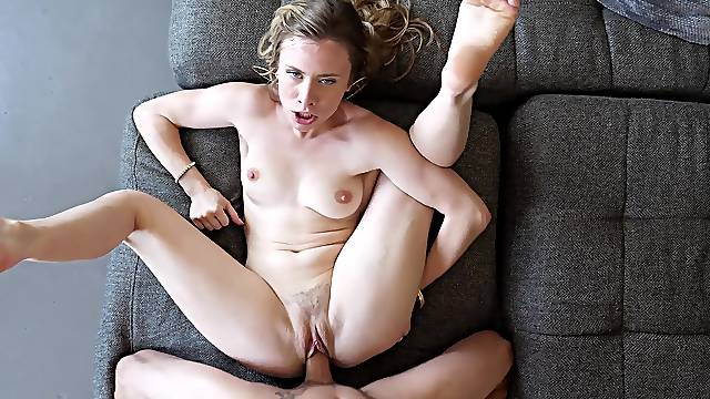 Full missionary POV leaves the petite hon totally pleased