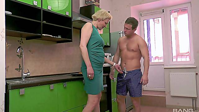 Energized mature wants the nephew's cock in both her holes
