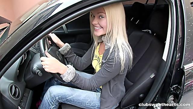 Blonde cutie Bella G. gets her sexy ass taken hard and long