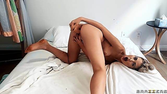 Chloe Cherry has a blast with a dildo designed for double penetration