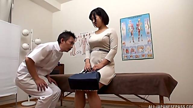 Japanese beauty fucks with her doctor
