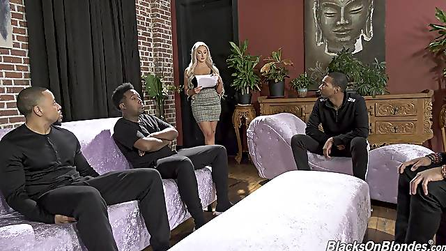Blacked in ruthless gangbang for a wild anal tryout