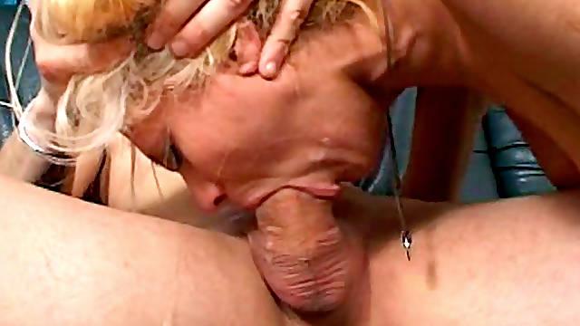 SWeetie gags in deepthroat scene